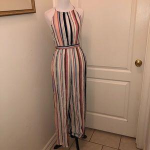 Women's striped jumpsuit